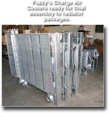 The charge air cooler ready for packaging.